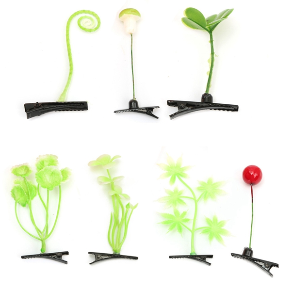 Lovely Cute Leaf Mushroom Cherry Spring Out Of Head Hair Clip Hairpin Headwear