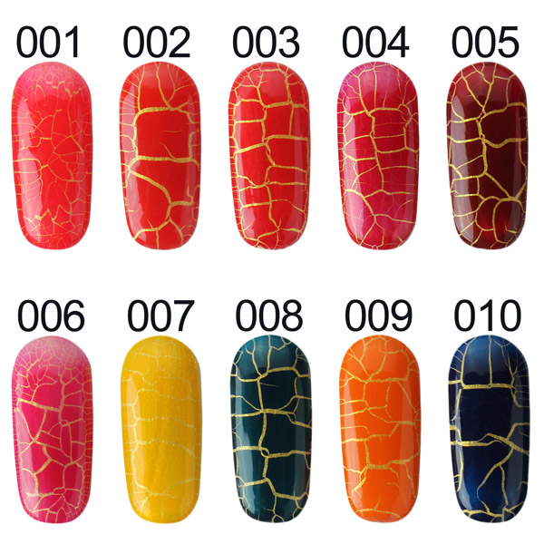 20 Colors DIY Phototherapy Crack Nail Art Soak Off UV Gel Polish Gorgeous 15ml