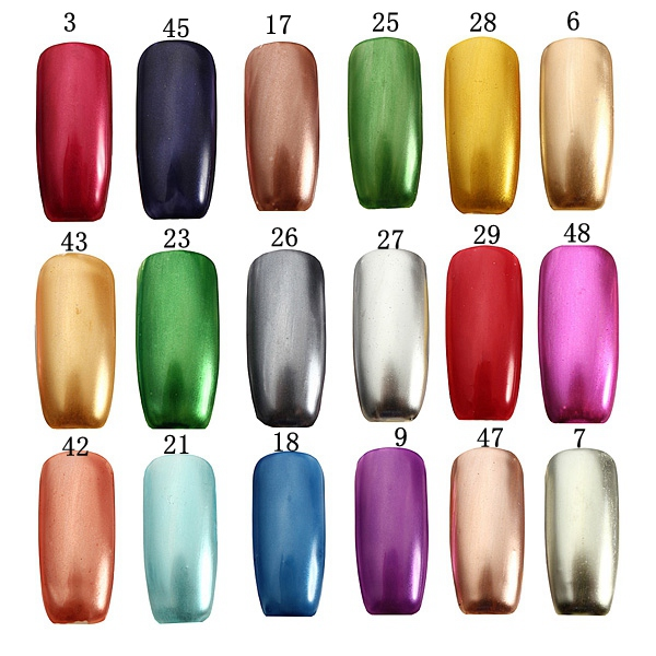 18 Colors 15ml Soak Off Metallic Metal Nail UV Gel Polish at Banggood