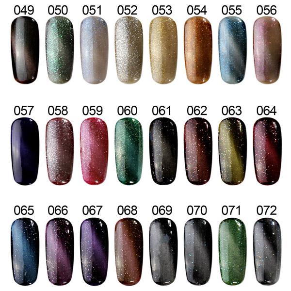 108 Colors Cat Eyes Magnetic Magic Nail Art UV Gel Polish 12ml Cat\'s ...
