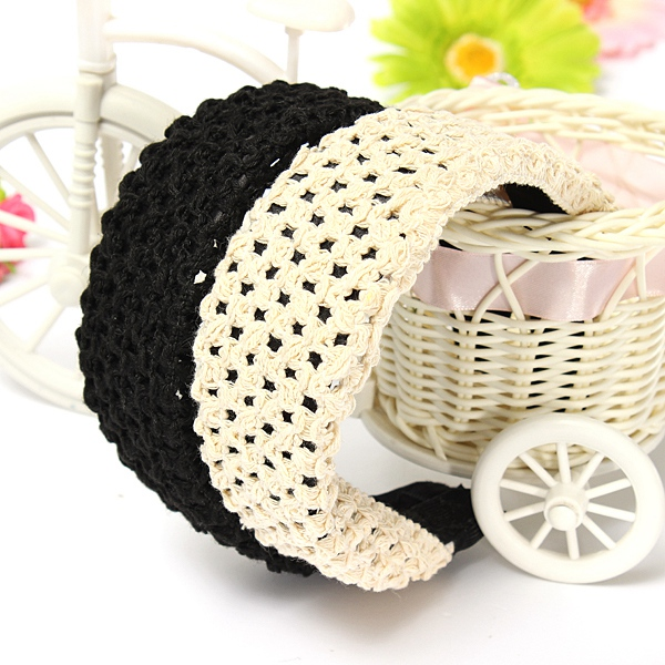 Wide Knitting Hollow Out Headbrand Hair Hoop Accessories