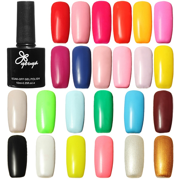 10ml Glossy Soak Off UV Gel Polish Long Lasting Nail Ar