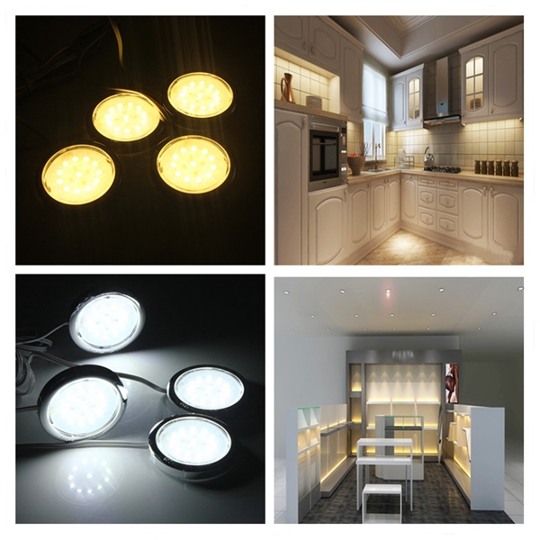 4p led home kitchen cabinet shelf night light energy sa