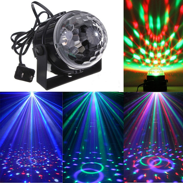 Mini RGB LED Party Disco Club DJ Licht Kristall Magic Ball Effekt Bühnenbeleuchtung