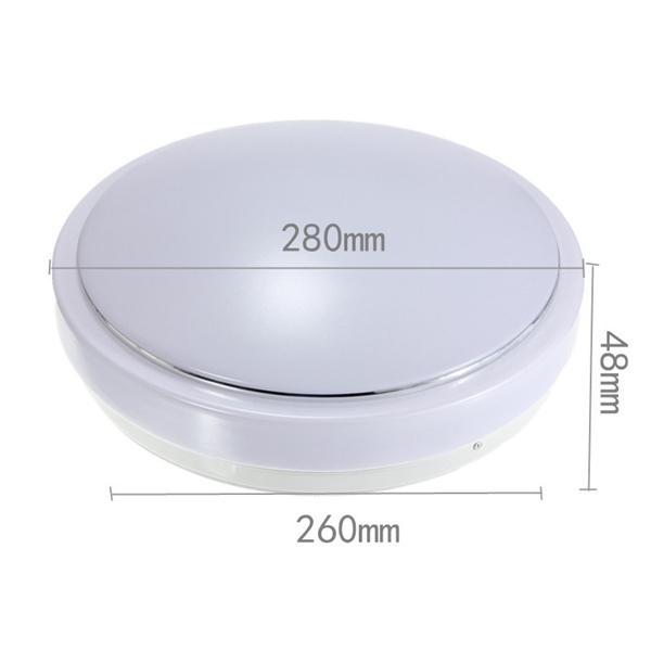 15W PIR Motion Sensor 30 LED Ceiling Light Body Automatic Light Switch AC 220V