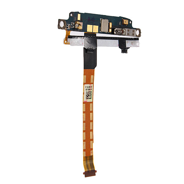 Touch Sensor Keyboard Vibrator With Mic Flex Cable Ribbon For HTC One S