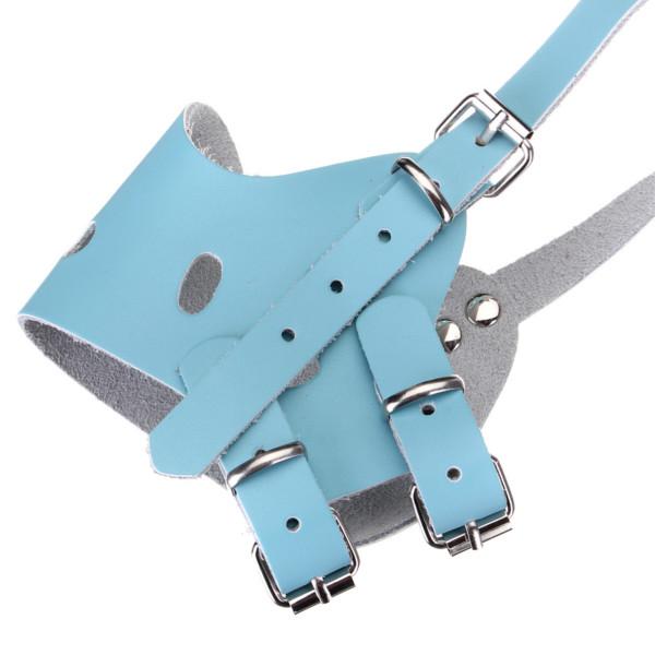 Adjustable Pet Leather Muzzle No-Bite Dog Mouth Mask