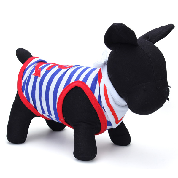 Pet Dog Clothes Sailor Suit Vest With Scarf Cat Puppy Dog Vest Waistcoat