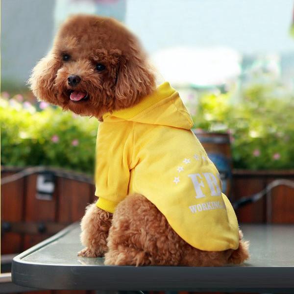 FBI Pet Dog Cat Cotton Hoodie Sweater Coat With Hat