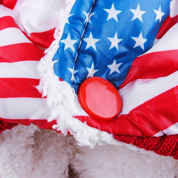 Pet US Flag Style Cotton Jumpsuit Coat Clothes