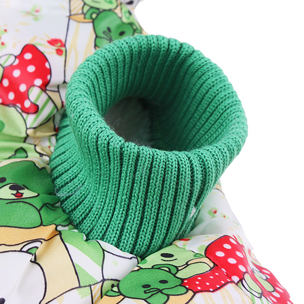 Pet Girl Luxury Lovers Cotton Winter Dog Cat Clothes Jumpsuit Green