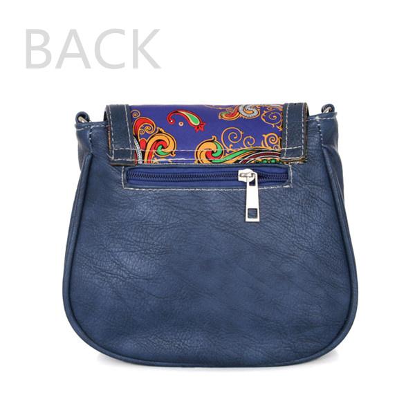 Women Casual Solid PU Bag Retro Hollow Crossbody Bag Shoulder Bag