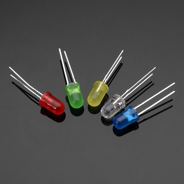 100pcs 20mA F5 5MM 5 Colors Ultra Bright LED Diode For DIY Projects