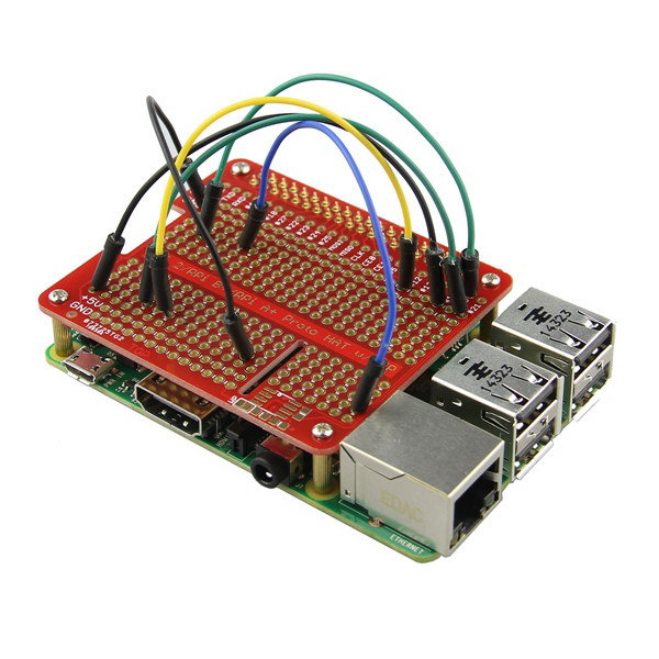 Prototype HAT Shield For Raspberry Pi 2 / B+ / A+