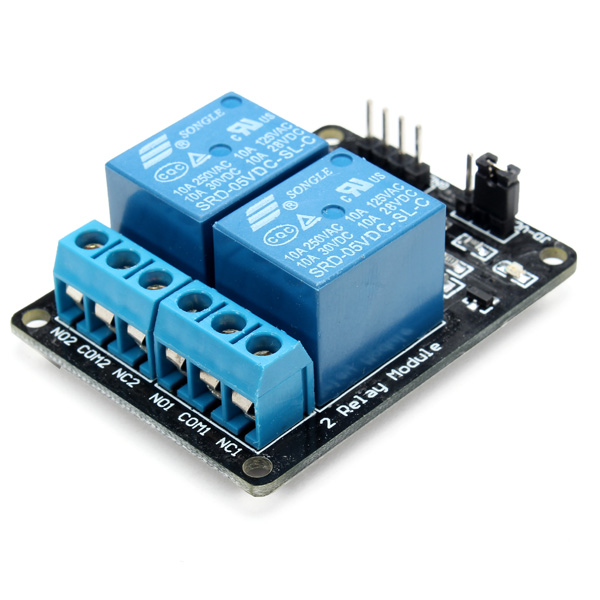 2 way relay module with optocoupler protection