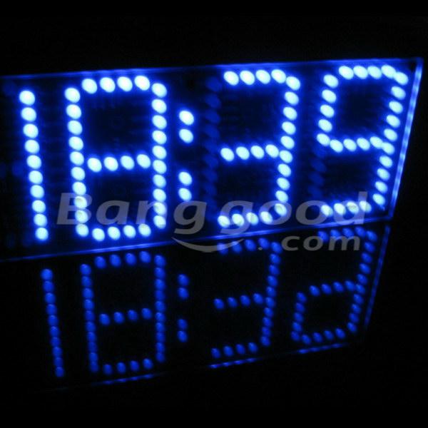 EQKIT® Large Screen Remote Clock Electronic DIY Kit Aluminum Cover