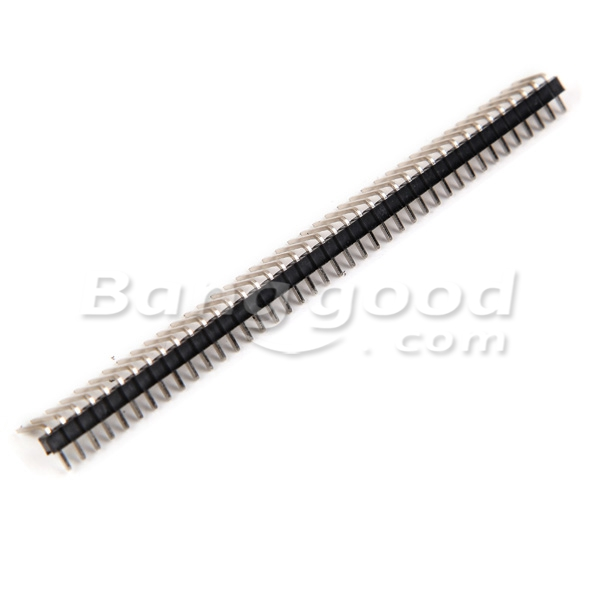 10pcs 40 Pin 2.54mm Single Row Pin Header Curved Needle For Arduino