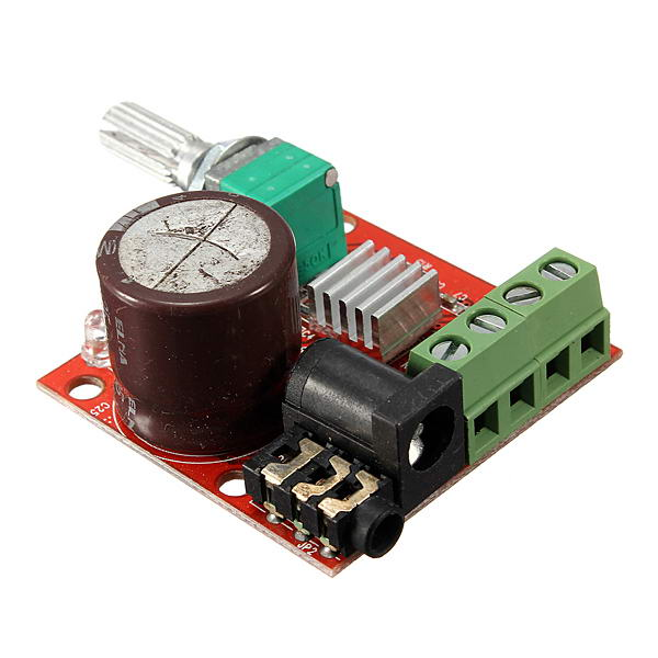 3Pcs 12V Mini Hi-Fi PAM8610 2X10W Audio Stereo Amplifier Board Dual Channel