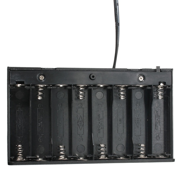 DIY 12V 8 x AA Battery Holder Box Case With Leads Switch