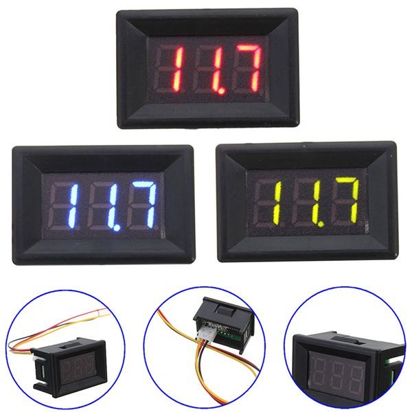0.36 Inch DC 0-30V 3 Wire Voltmeter LED Volt Tester Digital Display Panel