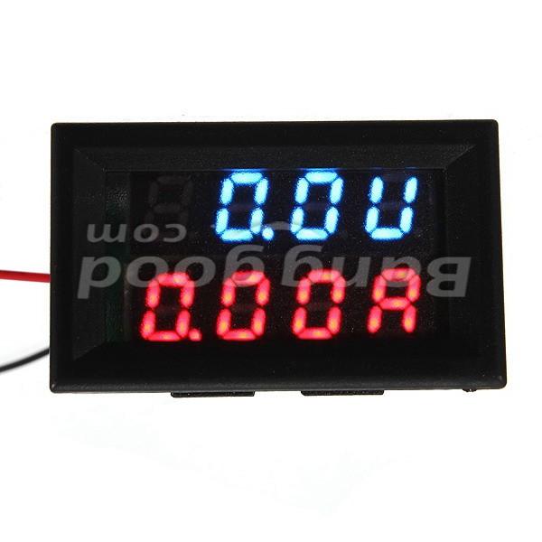 DC 0.28 Inch 30V/100V 10A/100A Digital Voltmeter Ammeter LED Panel