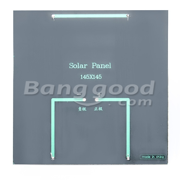 DIY 3W 12V 0-250MA 145x145x2.5mm Solar Panel Polysilicon Solar Cell