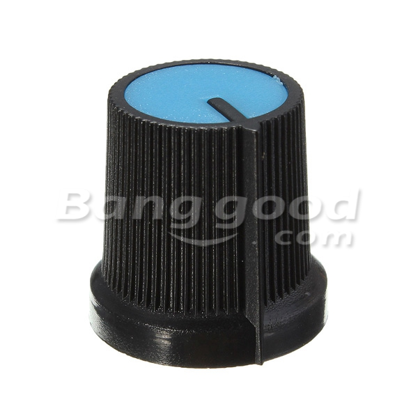 10Pcs Plastic For Rotary Taper Potentiometer Hole 6mm Knob