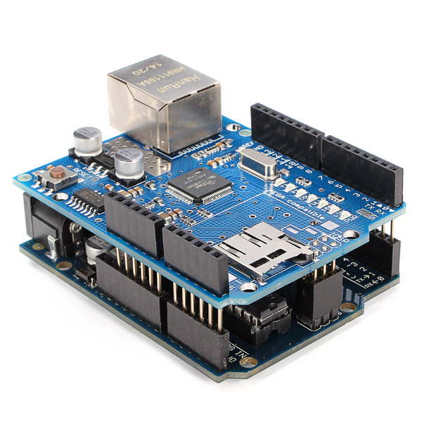 Geekcreit® UNO R3 USB Development Board With Ethernet Shield W5100 Kit For Arduino