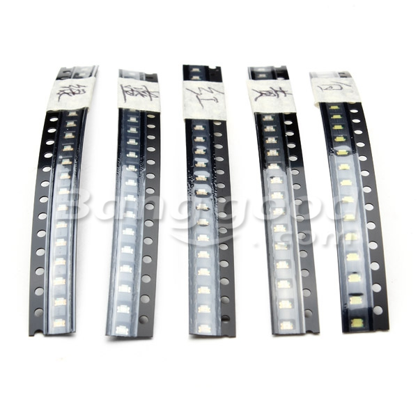 100pcs 0805 Ultra Bright SMD LED Light Emitting Diode 5 Colors
