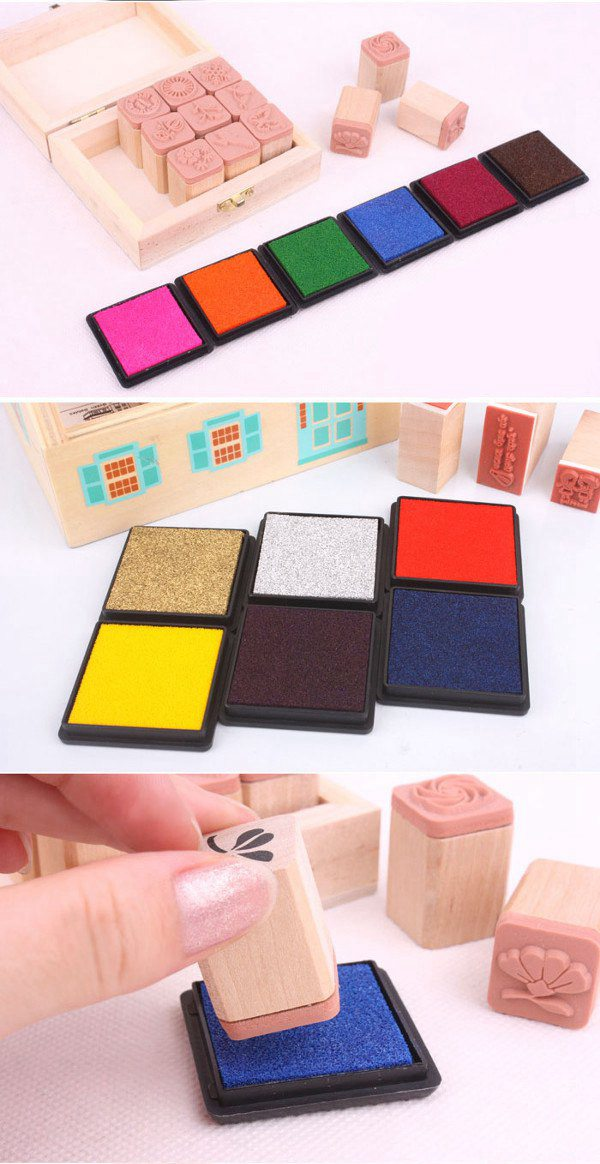 DIY Cube Sponge Ink Pad For Rubber Stamp Scrapbook Photo Album