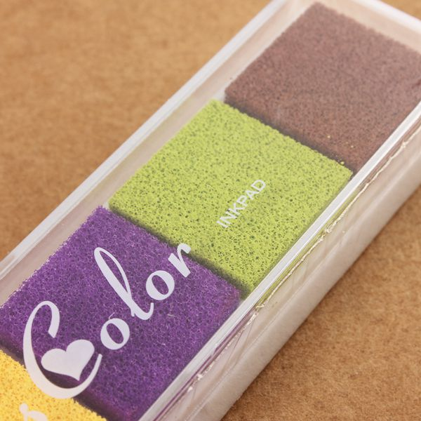 DIY Gradient Color Ink Pad For Rubber Stamps Fabric Wood Paper Scrapbook