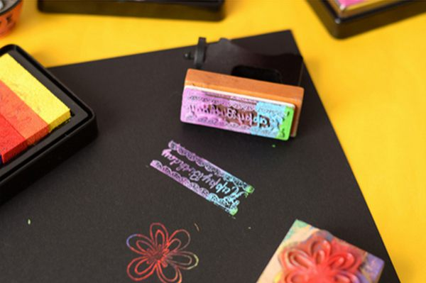 DIY Multicolor Sponge Ink Pad For Rubber Stamp Fabric Stamping