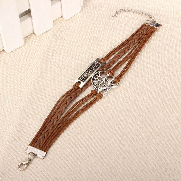 Best Friend Multilayer Love Infinite Symbols Bracelet Leather Woven Bracelets
