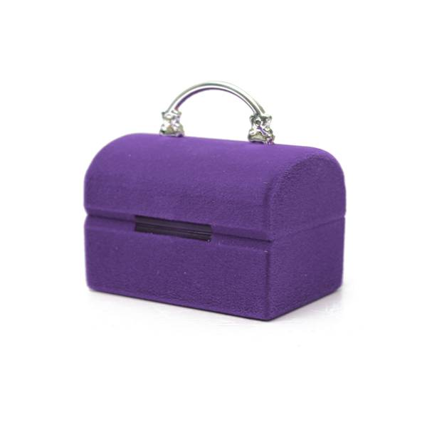 Mini Velvet Jewelry Box Earrings Rings Necklace Square Storage Case