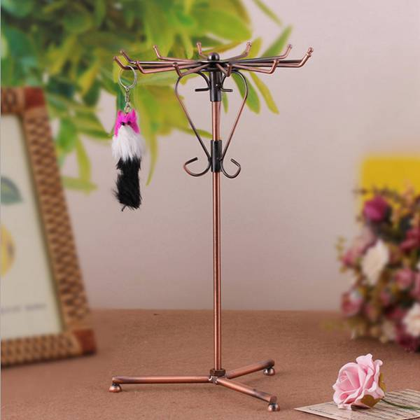 Rotate Hanger Necklace Bracelet Pendant Jewelry Display Rack