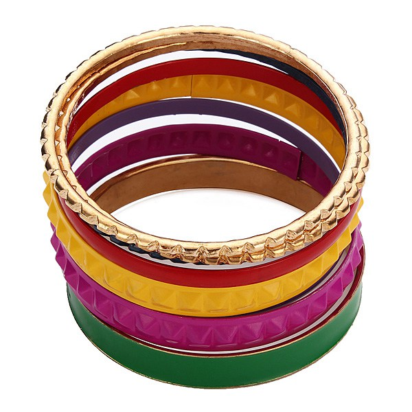 Colorful Alloy Multilayer Bangle Bracelet Women Jewelry