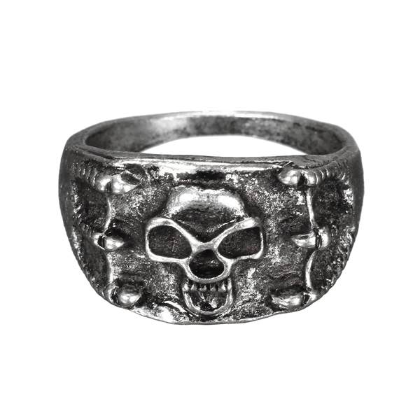 Retro Punk Silver Bronze Skull Claw Finger Ring For Women