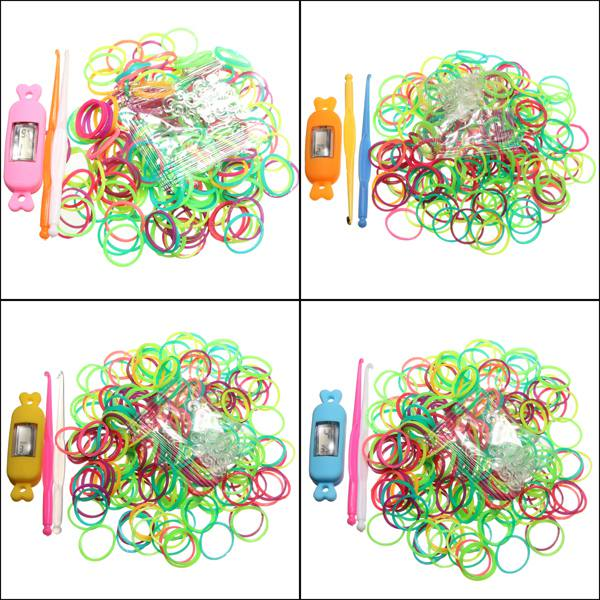 Candy Shape DIY Kid Craft Colorful Rubber Loom Band Watch Bracelet Kit