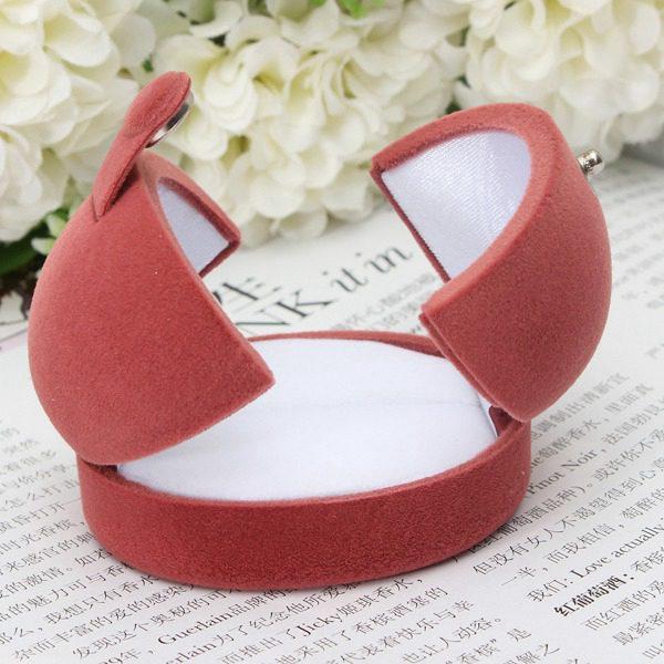 Multicolor Double Open Door Lint Ring Box Jewelry Earrings Gift Box