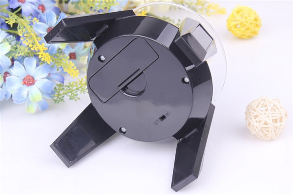 360 Degree Solar Powered Jewelry Rotating Display Stand Turn Plate