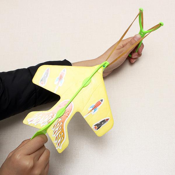 Magic LED Slingshot Plane Shinning Educational Toys