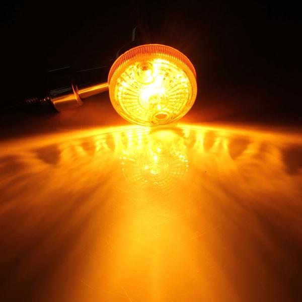 4pcs Universal Motorcycle Turn Signal Light Indicatior Lamp Amber Bulb