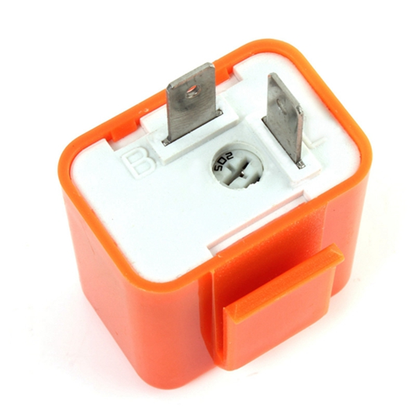 2-Pin Speed Adjustable Motorcycle LED Turn Signal Flasher Relay