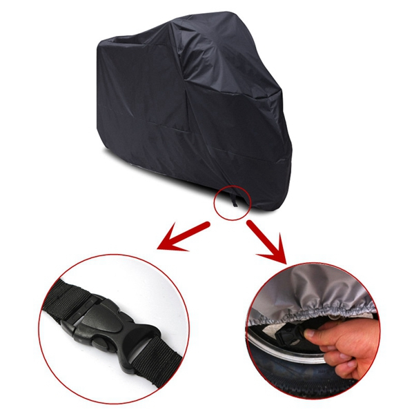 Waterproof Motorcycle Scooter ATV Outdoor Rain Cover XXL Size