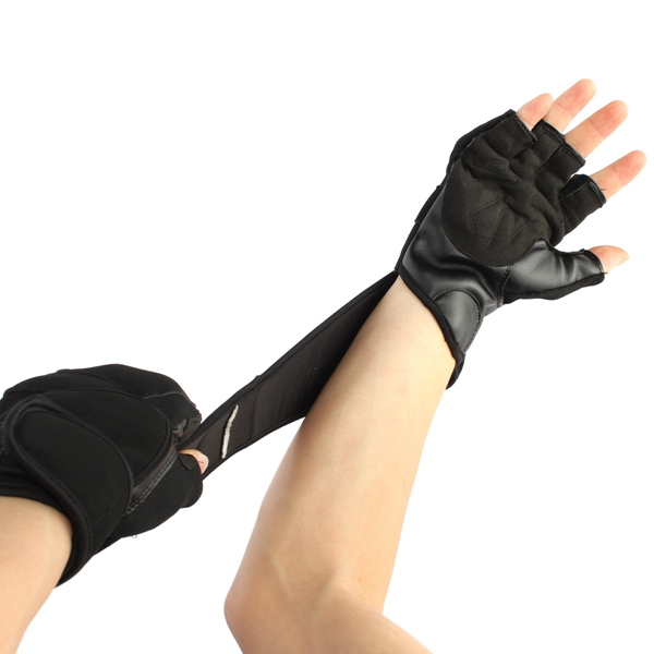 Professional Training Workout Fitness Sports Wrist Wrap Weight Lifting Gym Gloves