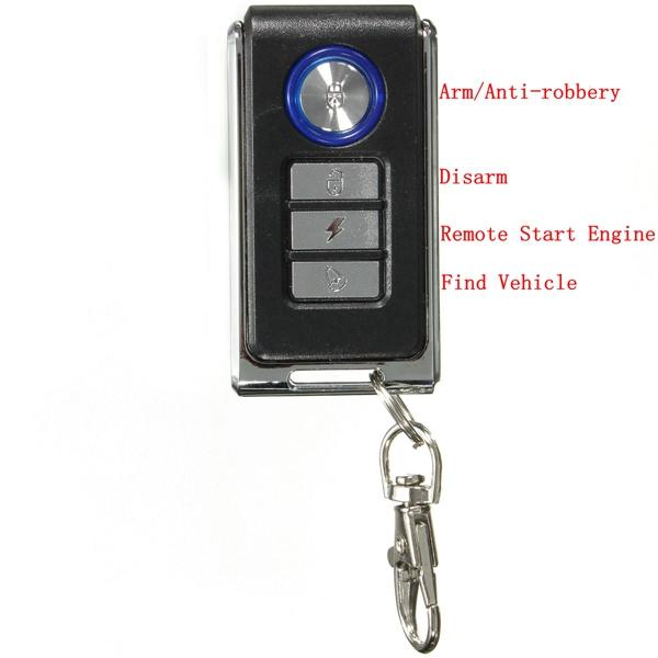 Motorcycle Anti Theft Security Alarm Remote Control Sensor System