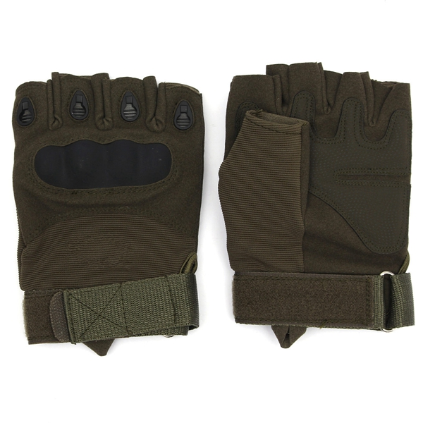 Unisex Adult Half finger Military Tactical Airsoft Hunting Riding Gloves M Size