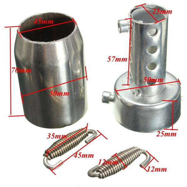 51mm Motorcycle GP Stainelss Exhaust Pipe Muffler Tip Slip on Street Bike