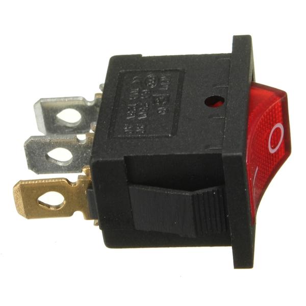 3 Pins On/Off Rocker Switch 10A 125V 6A 250V AC For Motor Car Boat Dashboard
