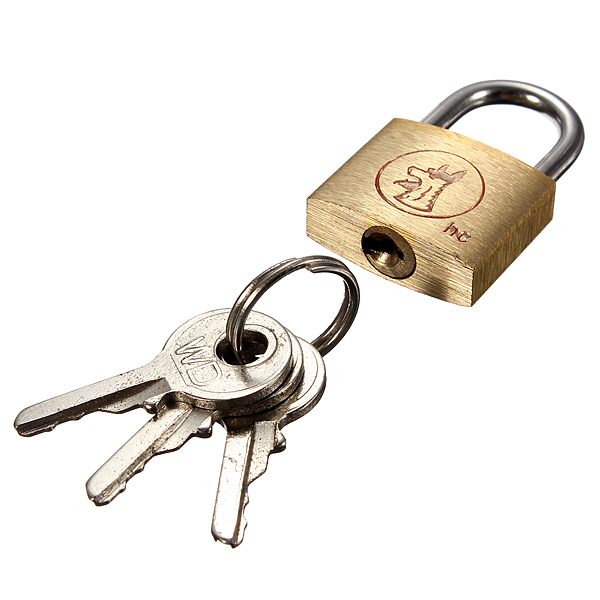 20mm suitcase locker toolbox brass padlock long shackle keys